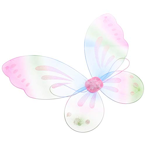 Amosfun Fee Flügel Niedlichen Schmetterling Flügel Verkleiden Kinder Engel Flügel Karneval Party Kostüm Geburtstag Neujahr Performance Party Liefert Bunte Rosa