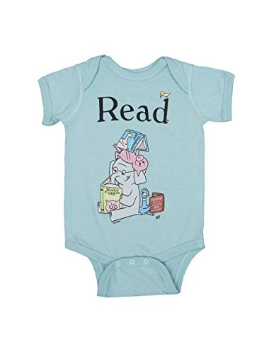 Out of Print Elephant & Piggie Read Baby Bodysuit 12 Months