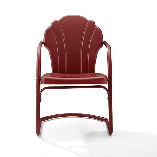 Crosley Tulip 2 Piece Chair Set Dark Red Satin