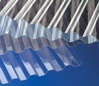 Polycarbonat - Lichtplatten Profil 177/51 Sinus (Welle) - klar - 2000 x 920 x 1,0 mm