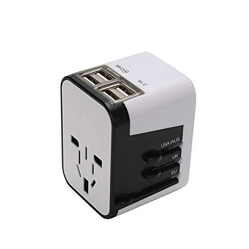 Adaptador Internacional con Una Multifunción USB Universal Vuelta Tres Enchufe para Reino...