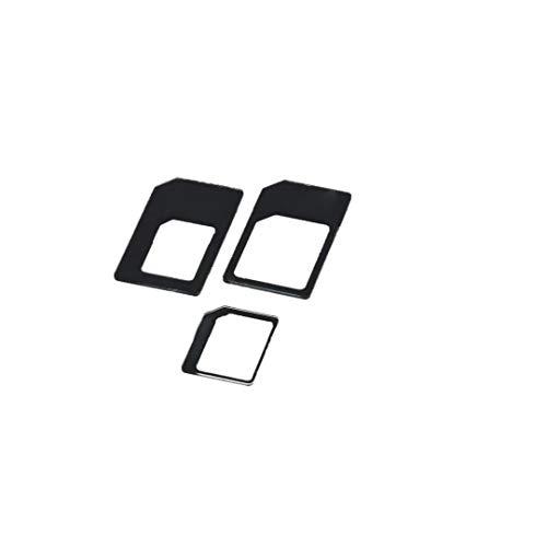 1 Conjunto práctico Nano SIM Adaptador Micro SIM Adaptador Nano a Micro convertidor Adaptador de Tarjeta SIM Negro