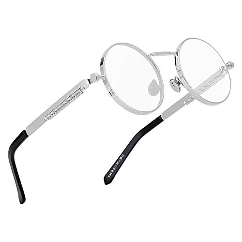 Kennifer Retro Occhiali da Sole Rotondi Metallo Unisex Eyewear Circle Specchio Occhiali UV400 per Uomini e Donne