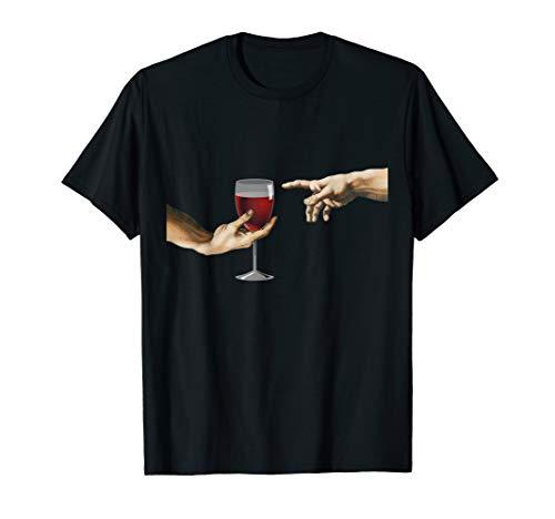 MichelAngelo - Erschaffung von Adam - Vintage Kunst T-Shirt