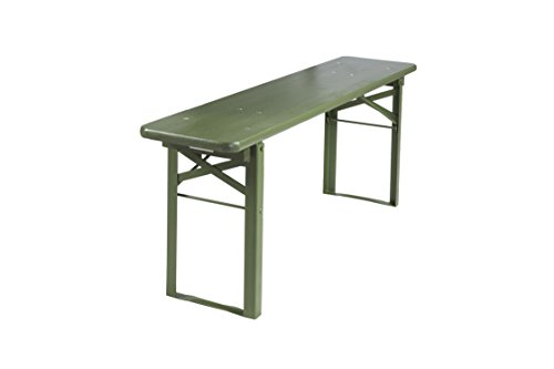 Klappbare Picknickbank, Bierbank, olivgrün, 120 x 25 cm – FSC Gütezeichen