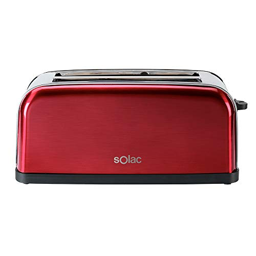 Solac TL5415 Stillo Red Tostadora con Ranuras Largas, Multicolor