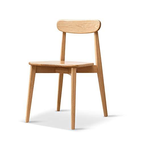 Mesa y silla de comedor de estilo europeo silla de oficina de madera maciza muebles de sala de estar resistentes al desgaste cocina del hogar silla de comedor respaldo tocador silla 75 * 51.5 * 44cm