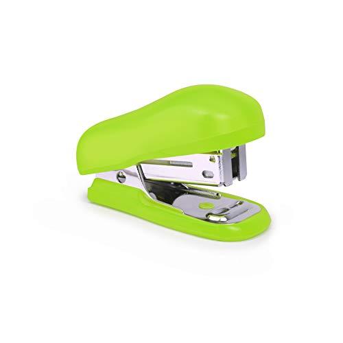 Rapesco Bug - Mini grapadora con caja de 1000 grapas 26/6, color verde ✅