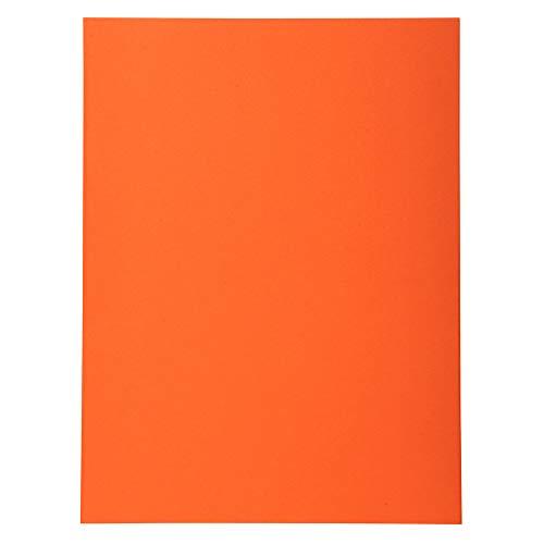 Exacompta 420007E - Lote de 100 Subcarpetas Forever 180, Color Naranja