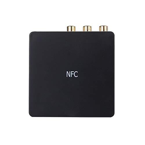 Anbel Negro PAULCLUB coaxial de Fibra óptica de Alta fidelidad APTX Altavoz Adaptador sin Hilos for el Bluetooth Receptor de Audio Amplificador