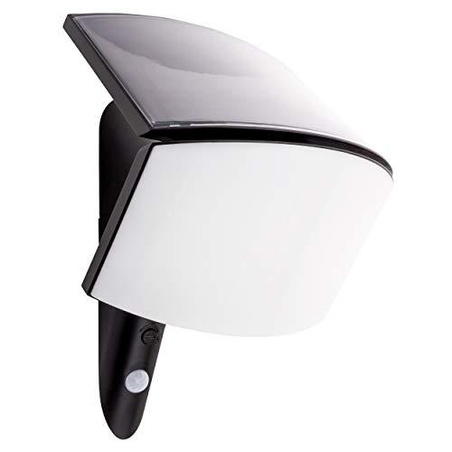REV Ritter MCSensor Solar LED Leuchte | Wandstrahler | LED Strahler | Aussenleuchte | Bi Color |Bewegungsmelder |3W 250 Lumen [Energieklasse A++] | anthrazit