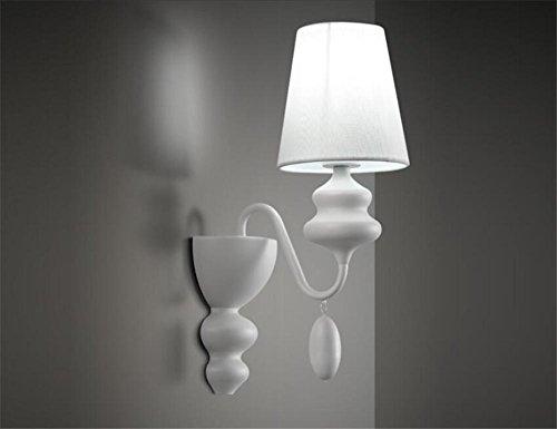 Mur Lampe DEL Interrupteur Lesearm salon chambre éclairage tissu blanc environ