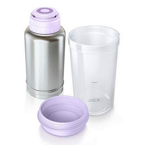 Philips AVENT SCF256/00 Thermo Flaschenwärmer für unterwesgs, edelstahl
