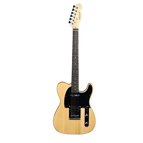 Vault TL1M Electric Guitar with Die-cast tuners and Dual-action truss rod - Maple Fretboard - Natural (Maple Fretboard, Natural)