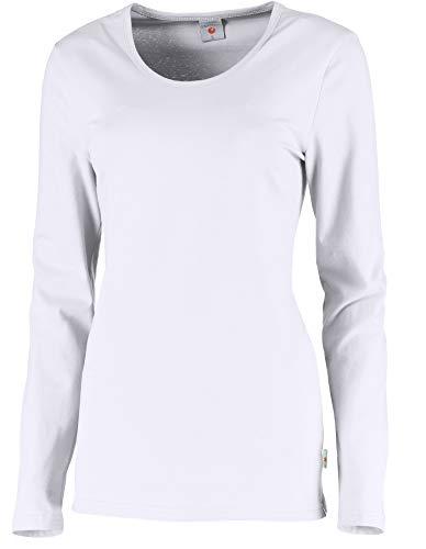 Whitewear Langarm Stretch-T-Shirt Carol Long-Shirt Basic Wear Rundhals Gr. XXL weiß
