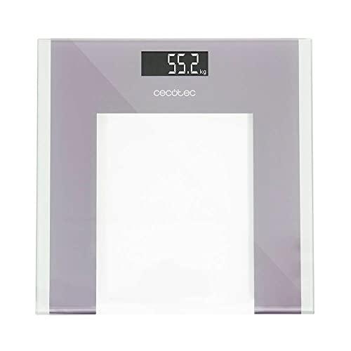 Cecotec Báscula de Baño Digital Surface Precision 9100 Healthy. Plataforma de cristal de alta seguridad, pantalla LCD invertida, Capacidad máxima de 180kgr, Lista para usar, con Cinta métrica