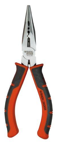 Black+Decker BDHT0-71620 - Alicate de boca semi-redonda recta de 150mm