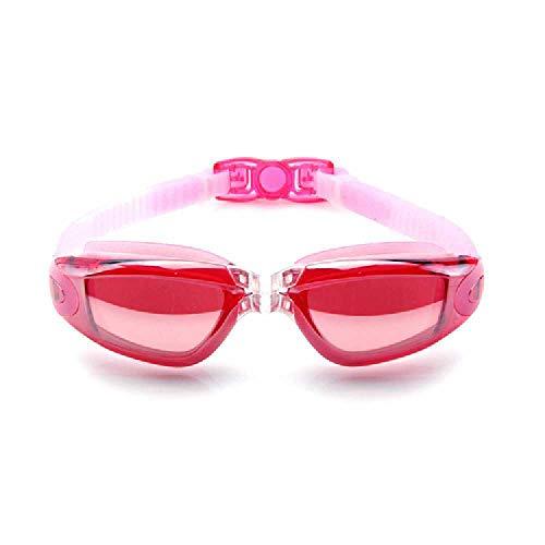 N\C Gafas de natación Adulto de una sola pieza Tapones para los oídos Gafas de natación Gafas de natación Galvanoplastia Antiniebla Gafas