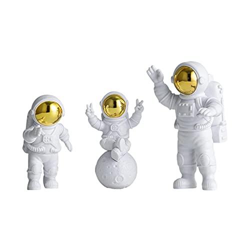 Hearthxy 3-teiliges Set Astronauten Figur Spielzeug Spaceman Statuen Modell Für Tortendeko, Tischdeko, Desktop, Auto Armaturenbrett Ornament Weihnachten Halloween Weltraum Thema Party Geschenke