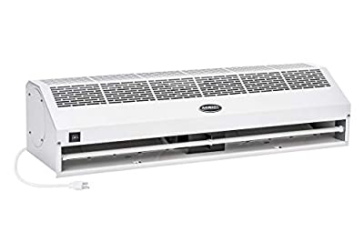 """DuraSteel Aerial Titan-1 White Super Power High Air Volume Commercial Indoor Air Curtain - UL Certified - 36"""", 40"""", 48"""" and 60"""" with Free Heavy Duty Door Microswitch (Limit Switch)"""