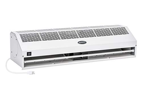 "DuraSteel Aerial Titan-1 36"" White Super Power High Air Volume Commercial Indoor Air Curtain - UL Certified - with Free Heavy Duty Door Microswitch (Limit Switch)"