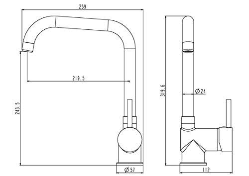 Eisl NI182GACR Grifo para fregadero Futura