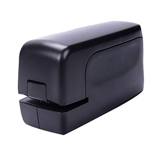 YCYG Elektrische nietmachine, automatisch, voor het inbinden van papier, netadapter, capaciteit 20 tot 25 vellen, gebruik van een nietmachine 26/6 of 24/6, zwart