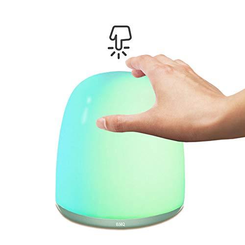 YHDQ Luce Sveglia per la Protezione degli Occhi, Luce Notturna Smart Touch Sensor Luce Ricarica USB Decorazione Scena Lampada da Tavolo Bar, Controllo Touch, Adatto per la casa