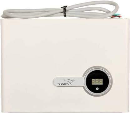 V-Guard New VIG 400 Digital Display for Inverter AC Upto 1.5Ton (170V-270V) Voltage Stabilizer (White)
