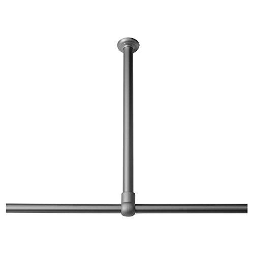 Sealskin Deckenhalterung, Aluminium, chrom matt, 60 x 2,8 x 2,8 cm