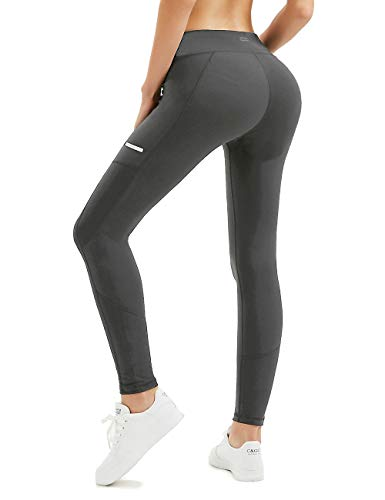 ALONG FIT Workout Leggings Active Tights Yoga Pants with Pockets for Women for Workout Running 4 Way Stretch