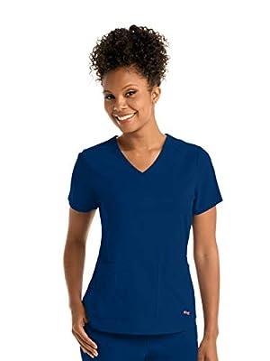 Grey's Anatomy GRST011 Women's Emma Scrub Top Indigo M