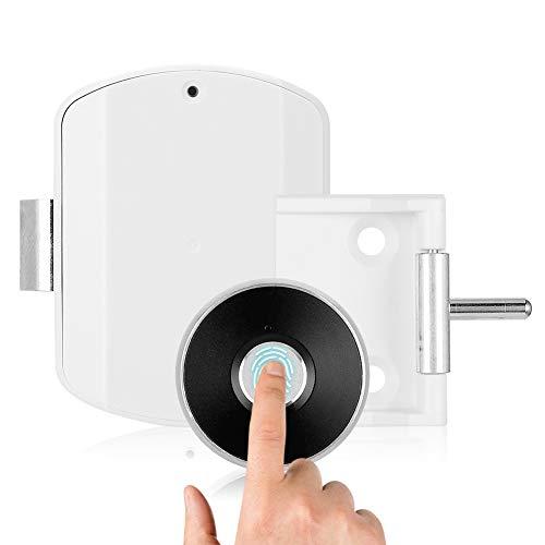 DAUERHAFT Biometrisches Anti-Diebstahl-Schloss Intelligentes Türschloss für Office Home Apartment(Black Fingerprint Panel)