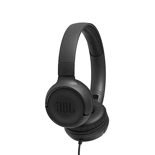 JBL TUNE 500 – Fones de ouvido intra-auriculares com fio – Preto