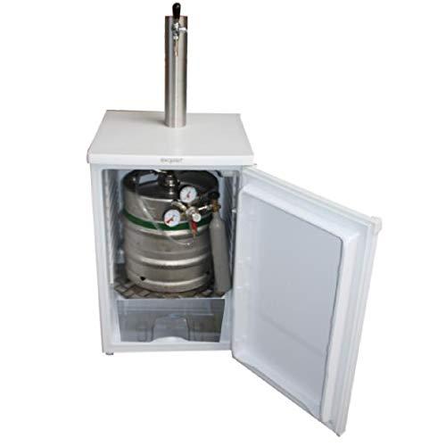 Komplett montierte Zapfanlage Bierbar für max 30l Fässer mit Schanksäule, Uhr, Co², Keg usw.