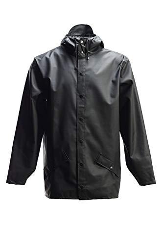 Rains Long Jacket, impermeable Hombre, verde, Large/Extra Large (Talla fabricante: Large/Extra Large)