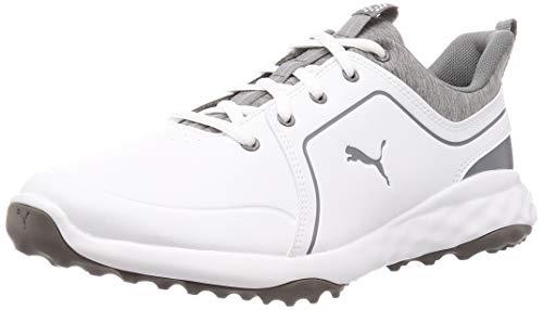 PUMA Herren Grip Fusion 2.0 Golfschuh, White-Quiet Shade, 39 EU