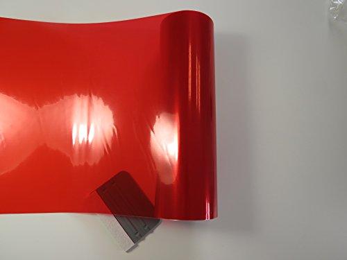 Könighaus (5,89€/m2) Scheinwerfer Tönungsfolie Rot (Rückleuchten Blinker Nebelleuchten) 20 x 30 cm