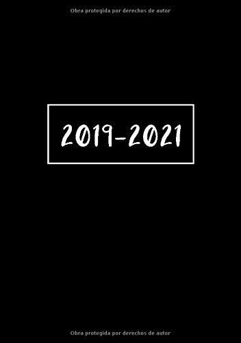 2019 - 2021: Comienza con semana 40 | Octubre 2019 - Septiembre 2021 | Vista Semanal | 1 Semana en 1 Página | 24 Meses Calendario Planificador | A5 Planner | Negro