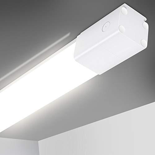 Oeegoo LED Deckenleuchte, LED Feuchtraumleuchte 60cm, 21W 2200LM Flimmerfreie Led Röhre, IP66 Wasserfest Deckenlampe Bürodeckenleuchte Badlampe Werkstattlampe Garagenlampe Tageslicht 4000K