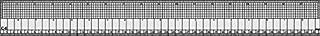 Régua para Modelagem e Patchwork, em PVC 1 mm – Trident, C-6, Transparente 46 x 5 cm