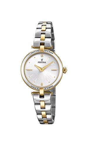 Festina Damen Analog Quarz Uhr mit Edelstahl Armband F20308/1