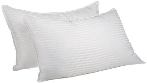Superior White Down Alternative Pillow 2-Pack, Premium Hypoallergenic Microfiber Fill, Medium...