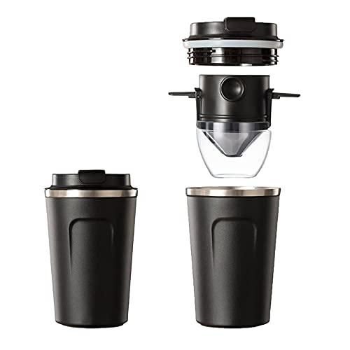 Cafetera portátil, suministros de comedor protector de sobretensiones de video 2 en 1 cafetera portátil, cafetera de mano de video fuente de alimentación protector de cámara