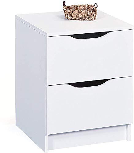 Cabina armadio da comodino, cassettiera classica eterna, comodino ad alto cassetto, questo cassetto è molto accattivante ovunque,White-2 Schubladen