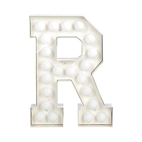 Seletti Vegaz Lettre en métal avec ampoules LED H cm 60 ‐ R E27 Blanc