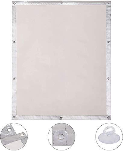 EUGAD Thermo Rollo Dachfenster Sonnenschutz UV-Schutz für Zuhause, Auto, Dachfensterrollo ohne Bohren, Hitzeschutz für Innen, Verdunkelungsrollo Dachfenster ohne bohren mit Saugnäpfen (Beige,60x115cm)
