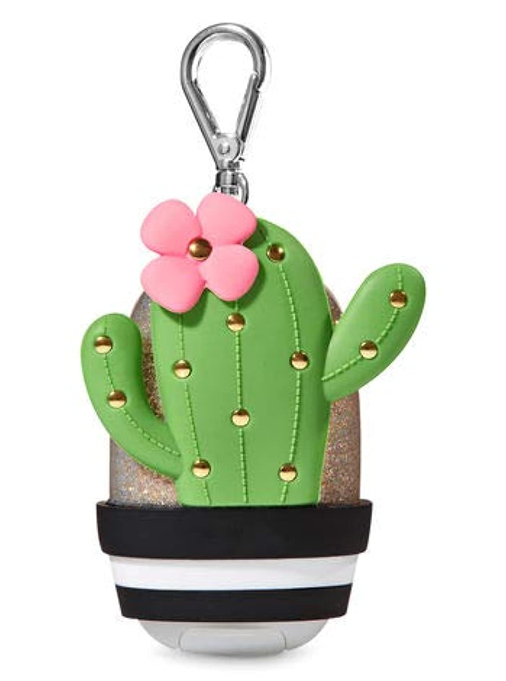 書誌先駆者邪魔【Bath&Body Works/バス&ボディワークス】 抗菌ハンドジェルホルダー カクタス Pocketbac Holder Cactus [並行輸入品]