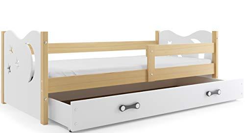 Interbeds Cama Individual Noel, 160x80, somier y cholchón de Espuma Gratis! Color Pino, (Blanco)