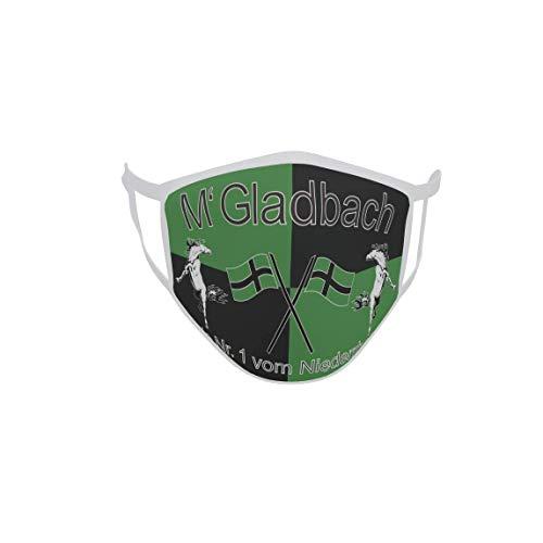 U24 Behelfsmaske Mund-Nasen-Schutz Stoffmaske Maske Gladbach Nr. 1 vom Niederrhein